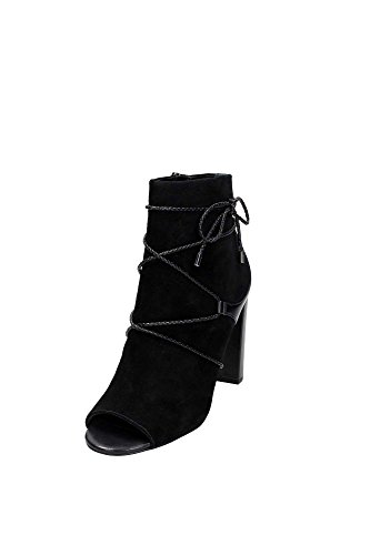 What For 045 Open Toe Donna Camoscio Nero Nero 37
