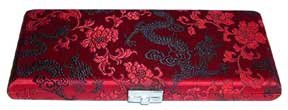 Bassoon Reed Case 10-Reed Red with Black Dragon Silk