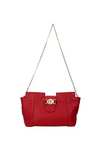 Borse a Spalla Versace Donna Pelle Rosso e Oro DBFF046DNPL0K6N0C Rosso 9x18x24 cm