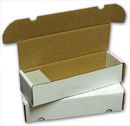 BCW 660 Count- Corrugated Cardboard Storage Box - Baseball, Football, Basketball, Hockey, Nascar, Sportscards, Gaming & Trading Cards Collecting Supplies