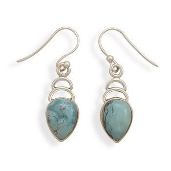 Arch Design Earrings with Turquoise