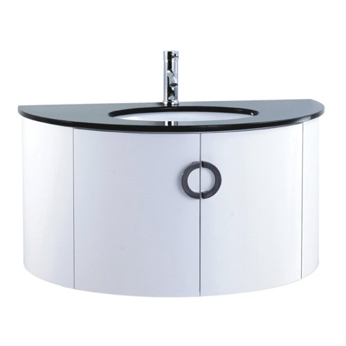 Vienna 1000mm White Gloss Wall Hung Bathroom Vanity Unit by John Louis Bathrooms