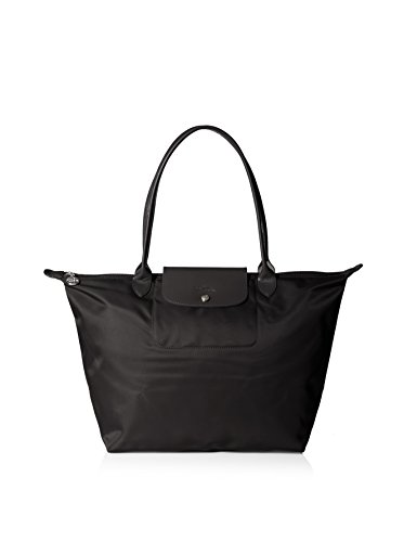 Longchamp discount duty free Longchamp Le Pliage Neo Large Black Shoulder Tote Bag