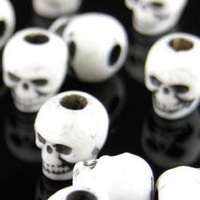 Plastic Skull Beads - Halloween Skull Beads