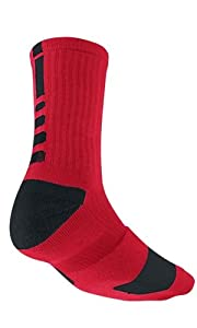 Nike Elite Men's Cushioned Crew Sock Dri-Fit Basketball Size XL Red