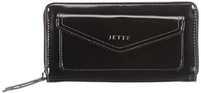 JETTE Miss Moore Long Wallet 4030001370, Damen Geldbörsen, Schwarz (black 900), 19x10x1 cm (B x H x T)