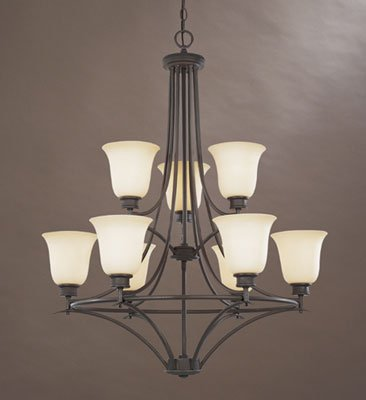 Designers Fountain 96989-ORB Montego 9-Light Chandelier, Oil Rubbed Bronze