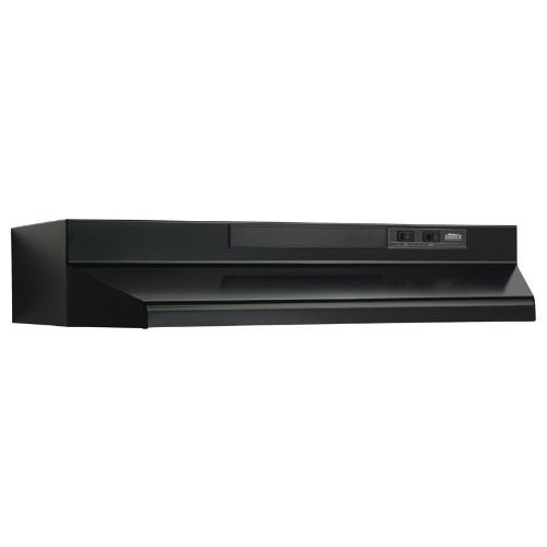 Broan F403023 Two-Speed Four-Way Convertible Range Hood, 30-Inch, Black (Range Hoods compare prices)