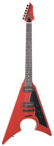 Axl Bloodsport Jacknife Electric Guitar, Red/Black