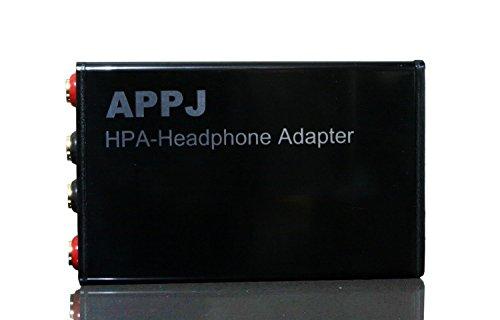 Bangk Appj Hpa Headphone Adapter/Matcher ( + Amplifier = Headphone Amplifier) , 8W +8 W, Support:8Ohms-600Ohms Headsets, El34/Kt88/300B/Mini 2013/Appj Pa0901A Amp, Black