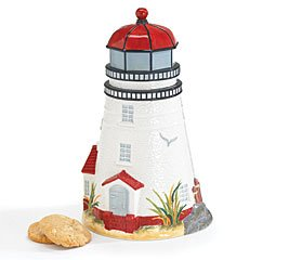 Lighthouse Cookie Jar For Food Storage / Canister And Home Kitchen Decor / Lighthouses Collectible