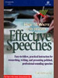 How to Write & Deliver Effective Speeches