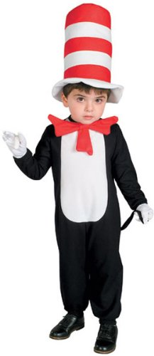 Cat in The Hat Jumpsuit with Bowtie, Tail, and Hat - Infant