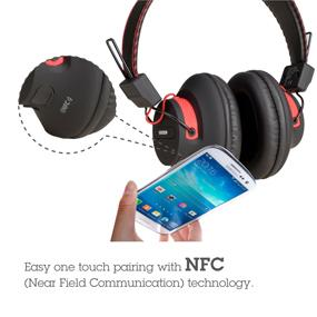 Avantree Audition, NFC Bluetooth Stereo Headphones, tap to pair and connect