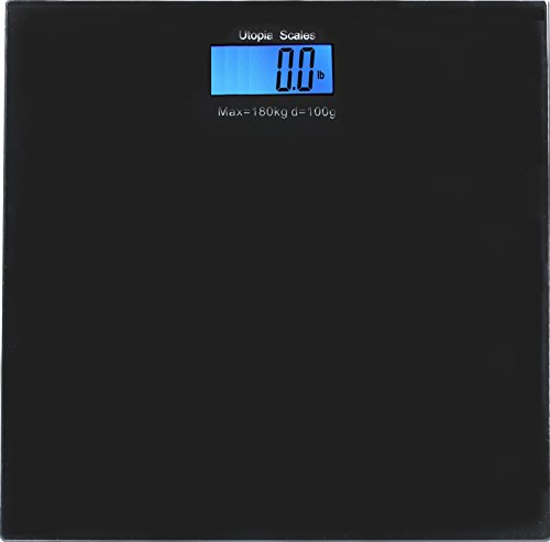 Digital Glass Bathroom Scale Black - Holds Up To 396