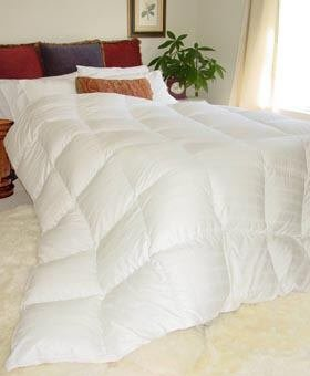 Glacier Luxurious King White Goose Down Comforter for Snow Comfort - 700 Fill Power