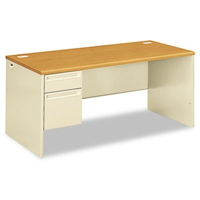 hon-left-pedestal-desk-with-lock-66-by-30-by-29-1-2-inch-harvest-putty