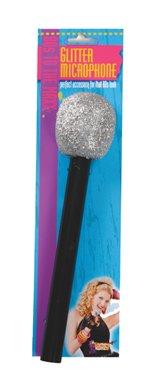 80's Glitter Microphone Halloween Costume Accessory