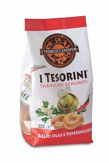 I Tesori di Canusium I Tesorini With Garlic, Oli & Chilli 225g