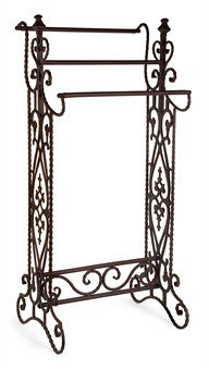 Tall and Narrow Quilt or Towel Rack (Wrought Iron) (36