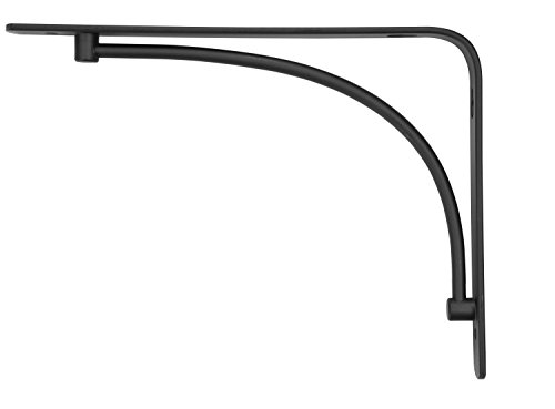 Rubbermaid 1877580 Decorative Shelf Bracket, 6 by 8-Inch, Arch, Black (Arch Brackets compare prices)