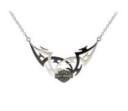 Harley-Davidson® Stamper® Women's Stainless Steel Necklace. Tribal Design. STN7048B