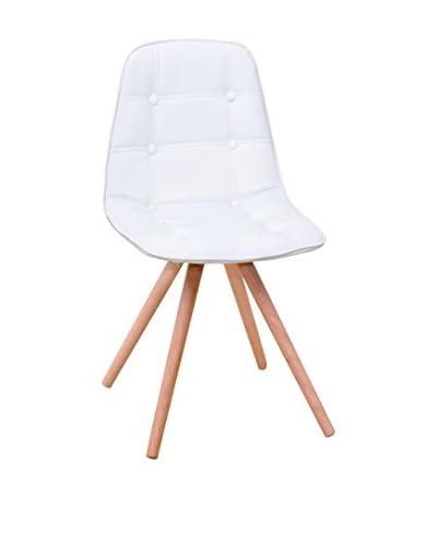 Basic Home Silla 4 Piezas Edera A18 Blanco