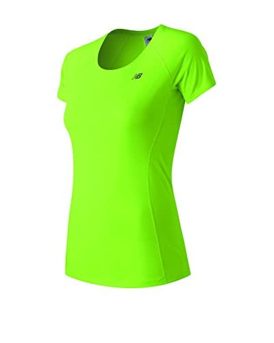 New Balance Camiseta Manga Corta WT61229 Verde Claro