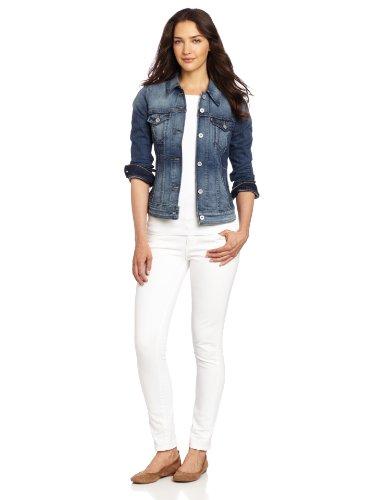 Levi's Women's Authentic Trucker Jacket, Saddle Blue, Medium