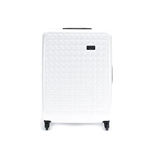 (ドットドロップス)Dot Drops スーツケース 100L ステッカー付[12326PC][TSAロック・専用シール・4輪] スーツケース White[並行輸入品]