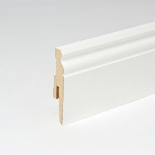 25m sockelleisten berliner profil 80mm all inclusive paket wei poeewiea. Black Bedroom Furniture Sets. Home Design Ideas