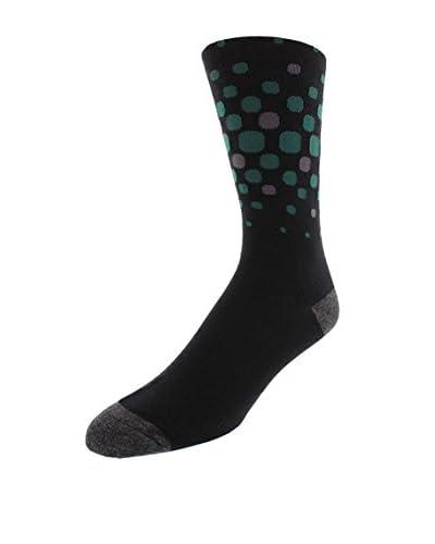Joe's Men's Pattern Crew Sock, Black, One Size
