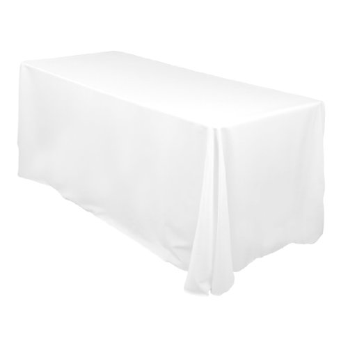 90 x 132 Inch Polyester Tablecloth White