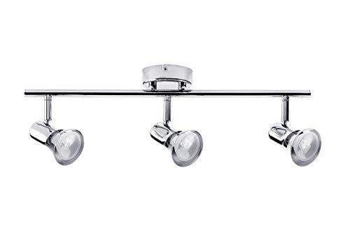 2 Way Spotlight Bar GU10 Adjustable Modern Ceiling Spot Light Black Litecraft