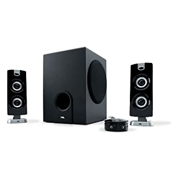 Enjoy the thunderous bass response from the CA-3602a speaker system by Cyber Acoustics. This three-piece system includes two 2-inch satellite speakers and a 5.25-inch subwoofer with a throw voice-coil and tuned port for an enhanced response. The slee...