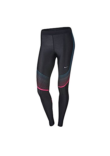 Women's Nike Power Speed Tight Black Hyper Pink Omega Blue 719784 025 (xs) (Nike Power Band compare prices)