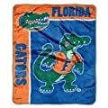NCAA Officially Licensed Florida Gators Royal Plush Raschel Fleece Throw Blanket