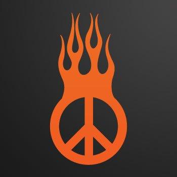 Peace in Flames... Orange (10 X 5.1 inch) KR533
