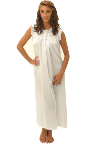 37e505feba RocketWear Women s Serenity Pink White Stripes Cotton Knit Chemise Nightgown  Large