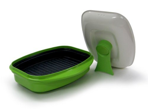 Microhearth Grill Pan for Microwave Cooking, Lime