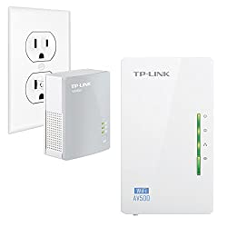 TP-LINK TL-WPA4220KIT ADVANCED AV500 Wi-Fi Powerline Extender Starter Kit with 2 LAN Ports, Up to 300Mbps Wireless