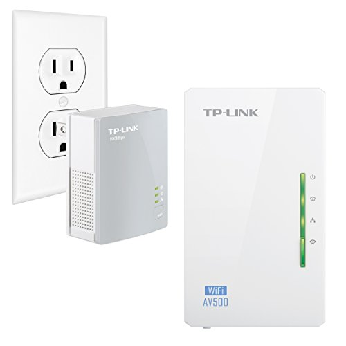 Tp-Link Tl-Wpa4220Kit Advanced 300Mbps Universal Wi-Fi Range Extender, Repeater, Av500 Powerline Edition, Wi-Fi Clone Button, 2 Lan Ports