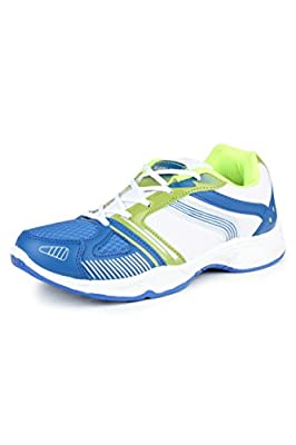 Columbus Men's Blue and Green Mesh Sports & Outdoor Shoes (Columbus Tab-124-BlueGreen_P)