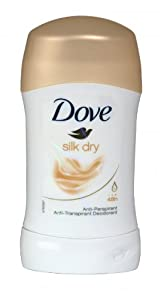 3 x Dove Anti-Perspirant Deodorant Stick 40ml Silk Dry