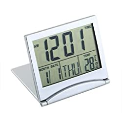 New Desk Digital LCD Thermometer Calendar Alarm Clock Flexible Cover SCW
