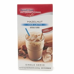 Maxwell House International Cafe Iced Latte Cafe-Style Beverage Mix, Single Serve Packets, Hazelnut 6 ea (pack of 5) (Beverage Serve compare prices)