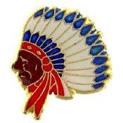 Metal Lapel Pin - Native American - Chief