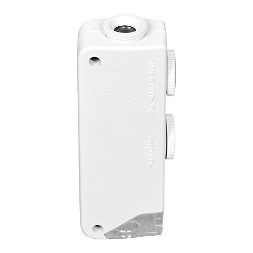 Beileshi 50X Pop--Up Mini Microscope(White)