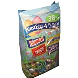 Nestle Nest Eggs Chocolate Foil Wrapped Easter Egg Chocolate Candies 4 Flavor 38 Ounce Variety Bag
