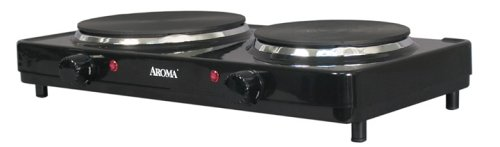 Aroma Housewares AHP-312 Double Hot Plate, Black (Aroma Dual Burner Hot Plate compare prices)